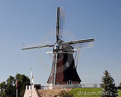 Windmills dutch landscape