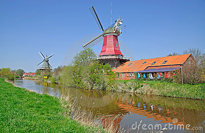 Windmills,Greetsiel,Germany