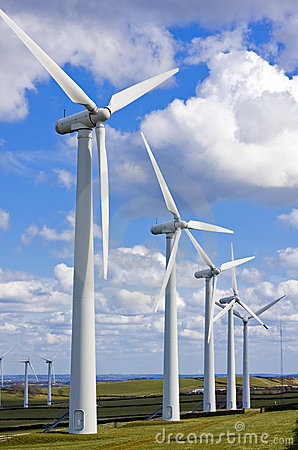 Free Windmills In Windfarm Stock Photos - 4740253