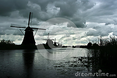 Image result for windmills in a storm