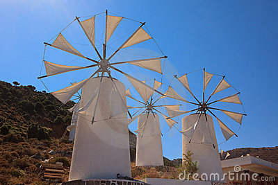 Windmills in the Lasithi Plateau