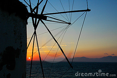 Windmills at Sunset - 3