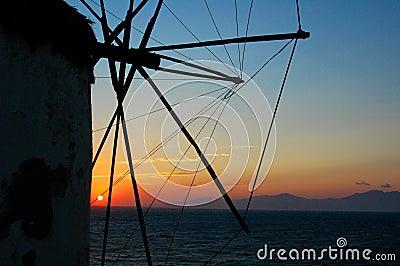 Windmills at Sunset - 3