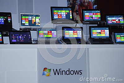 Window 8 Release Preview Editorial Stock Image