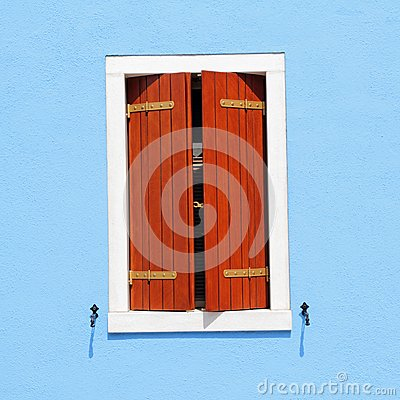 Window with ajar shutters