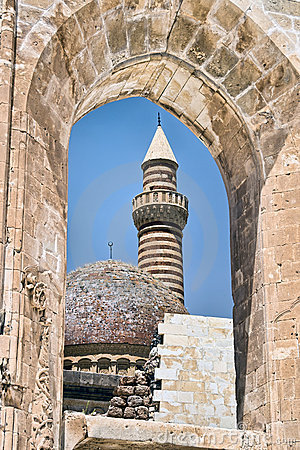 Window of Ancient Sultan Palace in Turkey