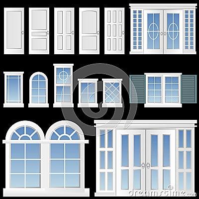 Free Window And Door Vector Stock Photos - 6372043