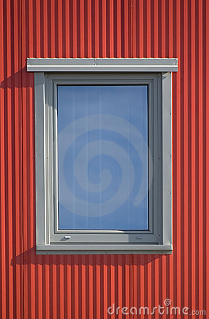Free Window And Red Lines Royalty Free Stock Photography - 4137357