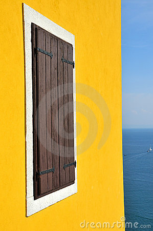 Free Window And The Mediterranean Royalty Free Stock Image - 14019486