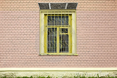 Window on a brick wall