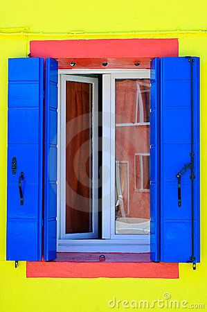 Window of a Burano house