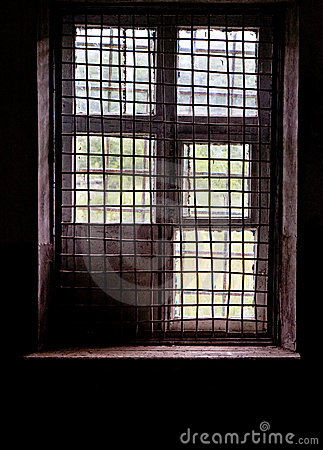Window in cell with bars