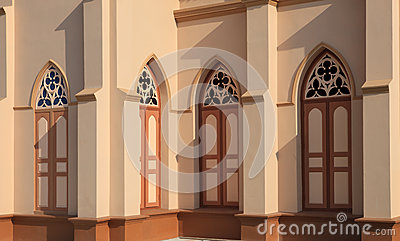 Window of church building