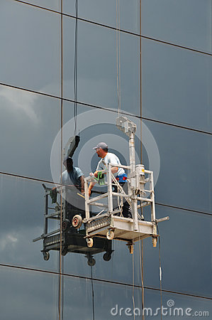 Window Cleaner Glass Facade Editorial Image Image 42950185