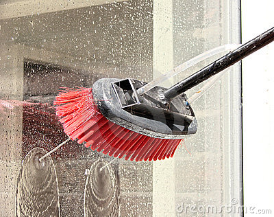 window cleaner  - reach and wash system