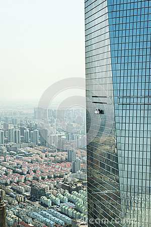 Free Window Cleaning In Shanghai Royalty Free Stock Images - 30245319
