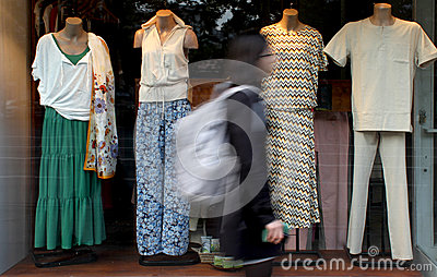 Window clothing display