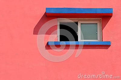 Window on color wall