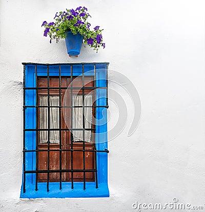 Window in Cordoba, Andalucia in Spain, Europe.