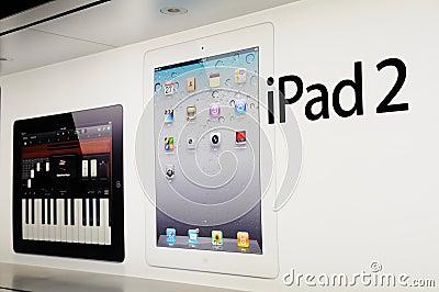 Window display of ipad Editorial Photography