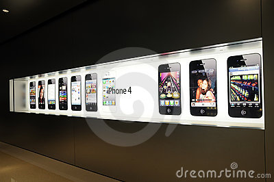 Window display of iphone Editorial Photo
