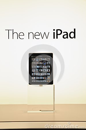 Window display of the new iPad Editorial Stock Image