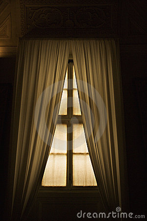 Window with drapes in the Vatican. Editorial Image