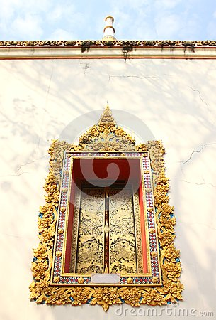 Window Frame of Thai Arts