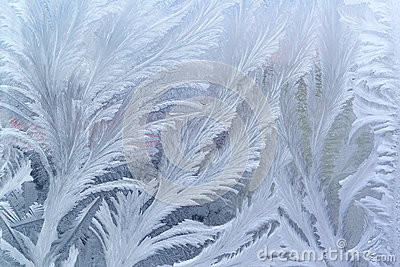 Window frost pattern on glass