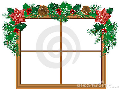 Window with the garland
