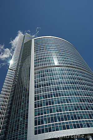 Window glass facade office building