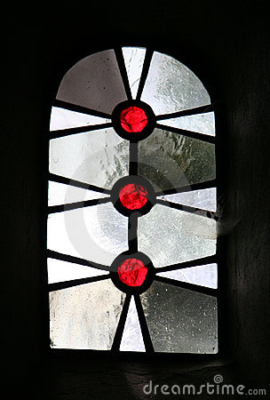 Window of a gothic church - St. Viktor Cathedral in Xanten