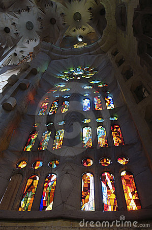 Window inside Sagrada Familia