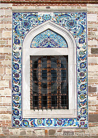 Window of the Konak Camii mosque