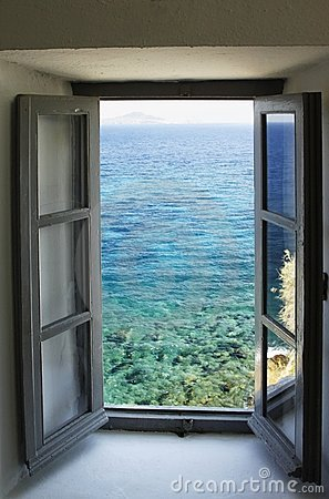 Window Looking Out On The Sea Stock Images Image 10035654