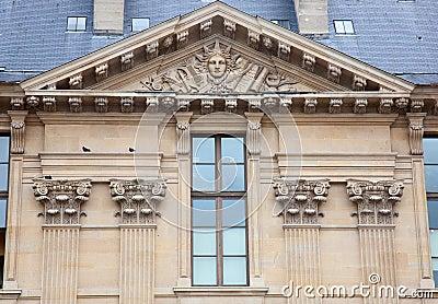 Window of Louvre museum