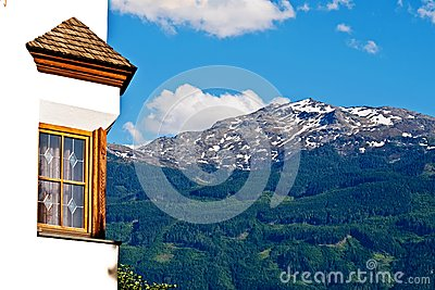 Window with mountain view