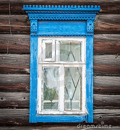 Free Window Of Old Traditional Russian Wooden House. Stock Photos - 29502803