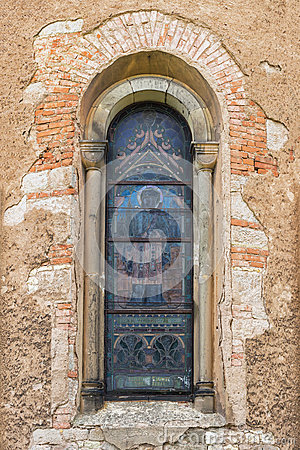 Free Window Of The Old Catholic Church Stock Images - 76020874