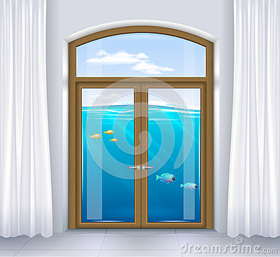 Free Window Of Underwater Landscape Royalty Free Stock Image - 82586066