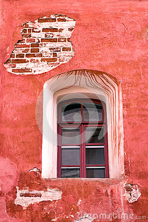 Window of old 19th century building
