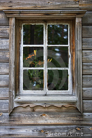 Window of old house