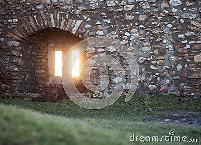 Window in old ruin
