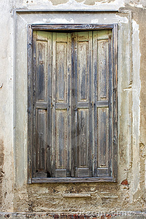 Window with old shutters