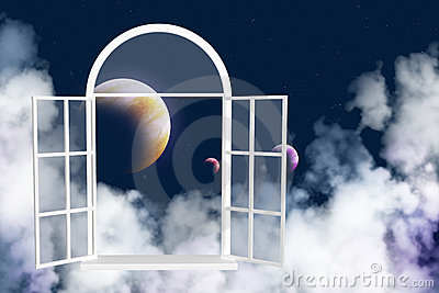 Window in other galaxy