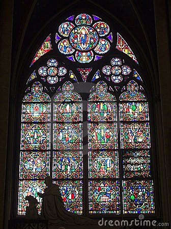 Free Window-pane From Notre-Dame In Paris Royalty Free Stock Photography - 5502777
