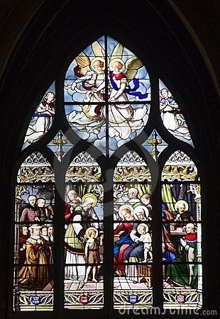 Window-pane from gothic church in Paris
