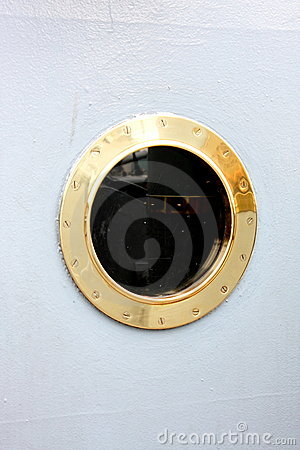 Window - the porthole at a military ship