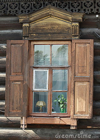Window with shutters