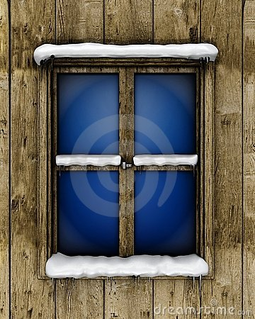 Window with snow